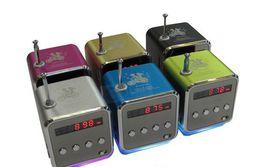 Wholesale Hot TD V26 Mini Portable Speaker Micro SD TF Card USB Disk MP3 Music Player Amplifier FM Radio digital speaker LCD display colorsc