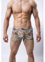 Wholesale underwear Men s underwear Wood pulp fiber breathable antibacterial boxer briefs U convex boxer shorts J301