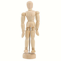 Wholesale Wooden Joint Moveable Manikin Model with Display Base quot