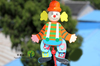 Wholesale Baby Toys Wooden Cartoon Clown Marionette Joint Moving Dance Classic Wooden Toy Baby Marionette Toys Christmas Gift
