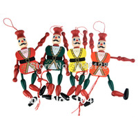 Wholesale Funny Vintage Wooden Mechanical Marionette Puppet Toys Pendant Charm amp Retail