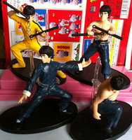 4pcs set Kung Fu Master Bruce Lee PVC Action Figure Collecti...