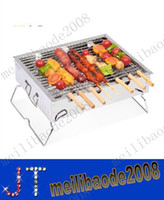 Wholesale NEW With thick stainless steel barbecue stove Portable household charcoal grill Outdoor folding wild burn oven MYY9250