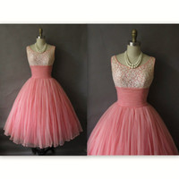 Wholesale Sexy Lace Applique Beaded Pink Cute Party Homecoming Dresses Tulle Graduation Dresses Short Cocktail Prom Dresses