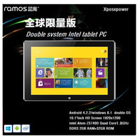 Ramos 10.1 Quad Core Original Ramos i10 Pro Tablet PC Intel Atom Z3740D Quad Core 1.8GHz 2GRAM 32GROM Android 4.2.2+Windows8.1 GPS Bluetooth WIFI.Free Shipping