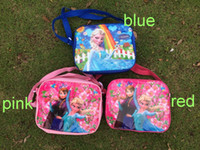Wholesale New Listing Frozen Elsa Anna kids Cartoon Lunch Box Set Nylon Cartoon Lunch bag frozen lunch bag