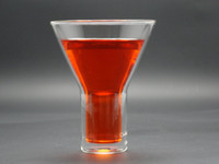 Wholesale fl oz ml C amp C Europe Style double wall champagne glass red wine glass martini Glass coffee cups for The World Cup