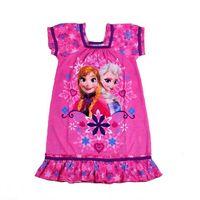 Wholesale Girls T T Cotton Frozen Dress Summer Night Gown Pajamas Short Sleeve Homewear Children Sleepwear Nightdress