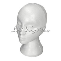 Wholesale pc Styrofoam Foam Mannequin Manikin Head Stand Model Display Wig hair Glasses Hat