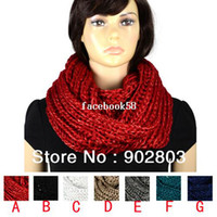 Wholesale Selling new design beautiful sequins yarn knitting thick winter warm cicle infinity women s scarf NL
