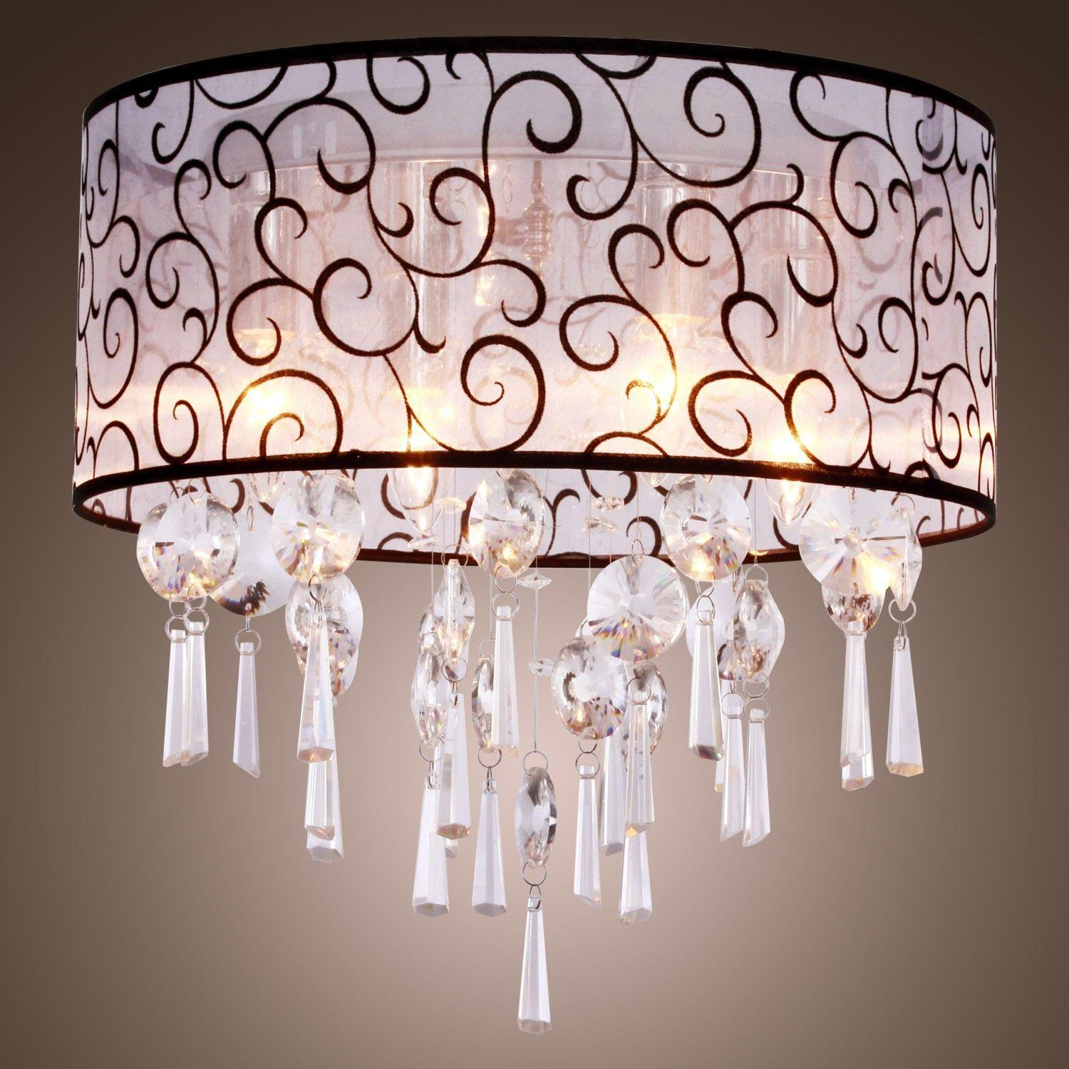 Discount Contemporary Crystal Ceiling Light Fixture