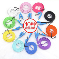 Wholesale LED Visible Flat Micro USB V8 Charger Cable M for Samsung Galaxy S3 S4 Data Smile Light Up Flashing Rubber Cord DHL Free in stock