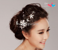 Headbands Rhinestone/Crystal  2014 New arrival 2014 Bridal Jewelry crystal Rhinestone elegant Wedding Tiara headpiece prom head wear floral headdress hair accessories hea