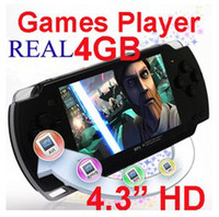 4.3 inch No Music HOT SELL 4GB 4.3 Inch PMP Handheld Game Player MP3 MP4 MP5 Player Video FM Camera Portable Game Console 30pcs