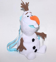 Frozen Snowman Olaf Plush Toy Backpack Soft Stuffed Animal D...