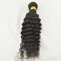 Brazilian Hair Deep Curly  Under $50 Deep Curly Hair Extension for Women Brazilian Human Hair Weave 3 Bundles Lot 100g pc Natural Black Color #1B Black