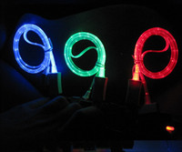 visible LED Light Micro USB Cable for Samsung Galaxy S3 S4 S...