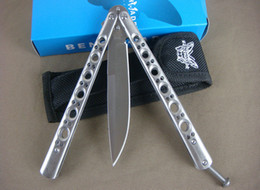 Wholesale Free HK Post Air Shipping Common Version Butterfly BM42 Flail Knife Hunting Knives Hand Tool White DREAM0643 Dropshipping