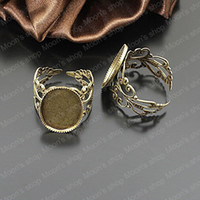 Couple Rings Jewelry Findings Metal Wholesale 18mm Antique Bronze with oval base Copper Ring settings Findings Accessories 10 pieces(J-M3162)