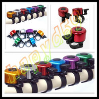 Wholesale 50pcs free ship fashion cycling sport luxury bike rings bells alarm horns bicycle ring bell aluminum alloy bell sounds