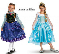 Anna Elsa Dress Frozen Princess Elsa Anna Frozen Cosplay Dre...