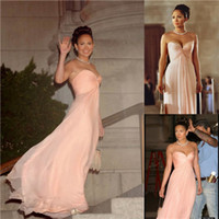 Reference Images maid in manhattan - Cheap Fashion Jennifer Lopez Maid in Manhattan Best selling A line Sweetheart Pink Chiffon Celebrity Dress Prom Long Bridesmaid Dresses