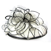Wholesale Women s Ladies Wedding Hat Wide Brim Derby Gauze Hat Church Tea Party Sun Hat