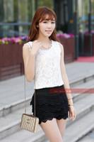 Wholesale shorts safety pants female lace crochet legging high waist shorts skirt pants women plus size pantskirts pc retail
