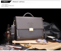 Wholesale 2014 Men Casual Incline Shoulder Bag Fashion Kangaroo Mens PU Leather Briefcase Portable Packet High Quality