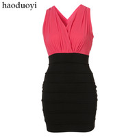 Casual Dresses V_Neck Sheath rare sexy spirally-wound backpack one-piece dress deep V-neck high waist bud skirt 6 full