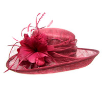 Wholesale Women s Ladies Wedding Hat Wide Brim Derby Gauze Hat Church Tea Party Sun Hat sinamay hat