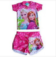 TuTu Summer A-Line Frozen Elsa Cartoon Coat + shorts Set bathing suit Urparcel Baby Girls One Piece Floral Dress Pearl Party Ballet Skirts 2-7Y Birthday Gift