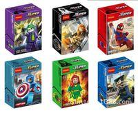 Wholesale Superheroes Spiderman Captain America Black Widow Building Blocks Minifigure DIY Bricks Building Blocks Toys CM set