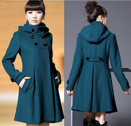 Autumn and Winter Coat Wool Double-Breasted Outerwear Wool Coat Women Medium-Long Coat Wool Coat WL0609