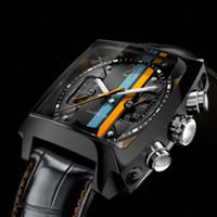 Men's wrist watches for men - Top sale Luxury men watches Black Automatic Leather wrist watch for men T05