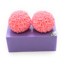 bathroom candle decoration - Nicole D rose flowers silicone candle molds soap mold bathroom decoration fondant cake mold handmade candy mold chocolate mold rubber R1295