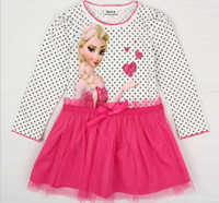 2014 New Arrive vestidos de menina Frozen Movie Girl Dress E...
