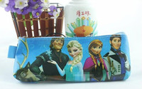 Wholesale Children s Toys Pencil Bag Cosmetic Bags Coin Purse Frozen Cartoon Elsa Anna Pattern Stationery Snow Queen Design Babies Childs Things G228