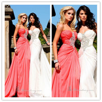 2015 Amazing Design Sweetheart Prom Dresses Crystal Beaded A...