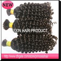 100g brazilian hair bulk - 100 Human Hair Bulk Hair Grade a Unprocessed Brazilian Malaysian Peruvian Mongolian Virgin Hair Bundles Bulk Curly hair bundles