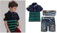 Clothing sets Brand Boys T- shirts & shorts & Belt Ch...