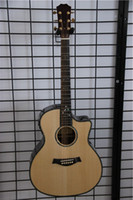 Wholesale Acoustic guitar Solid Spruce Mother Of Pearl inlay best quality guitar