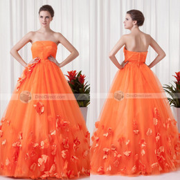 Wholesale 2014 Beautiful Ball Gown Strapless Floor Length Applique Tulle Quinceanera Dresses Prom Dresses for Party Gowns EM02207