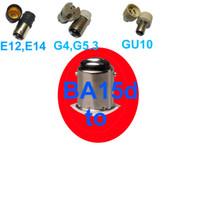 Wholesale BA15d B15 B15d to E12 E14 E17 MR16 GU5 GU4 holder socket converter adapter