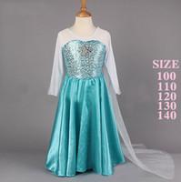 Wholesale New Elegant Long Dress Frozen Princess Dream Dress Frozen Elsa Skirt Girl s Beautiful Dresses
