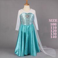 New Elegant Long Dress Elsa Princess Dream Dress Elsa Skirt ...