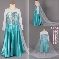 2015 Princess Elegant Dream Dress Elsa Long Dress Skirt Girl...