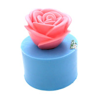Cheap Nicole rose flower silicone soap mold molds handmade craft mold rubber mold cake decoration mold silicon mold R1297