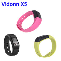 Slap & Snap Bracelets Unisex Fashion 3 Colors Vidonn X5 Bluetooth 4.0 IP67 Smart Wristband Sports & Sleep Tracking Health Fitness for iPhone 4S 5 5S 5C Samsung S4