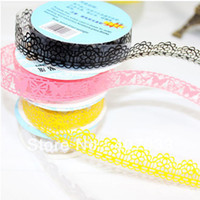 Wholesale 300pcs Colorful Sweet Stationery Lace Tape Decorative Sticker DIY Tape Office Adhesive Tape